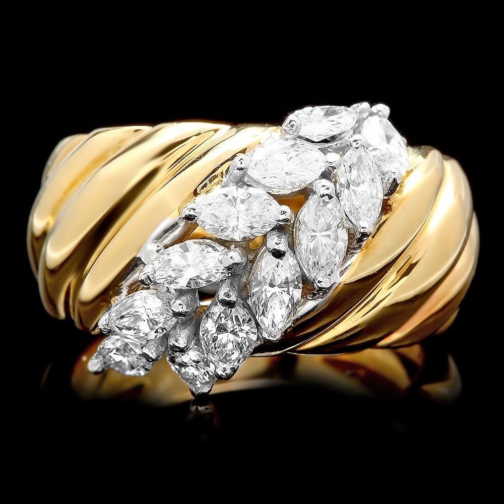 18k Multi-Tone Gold 1.25ct Diamond Ring
