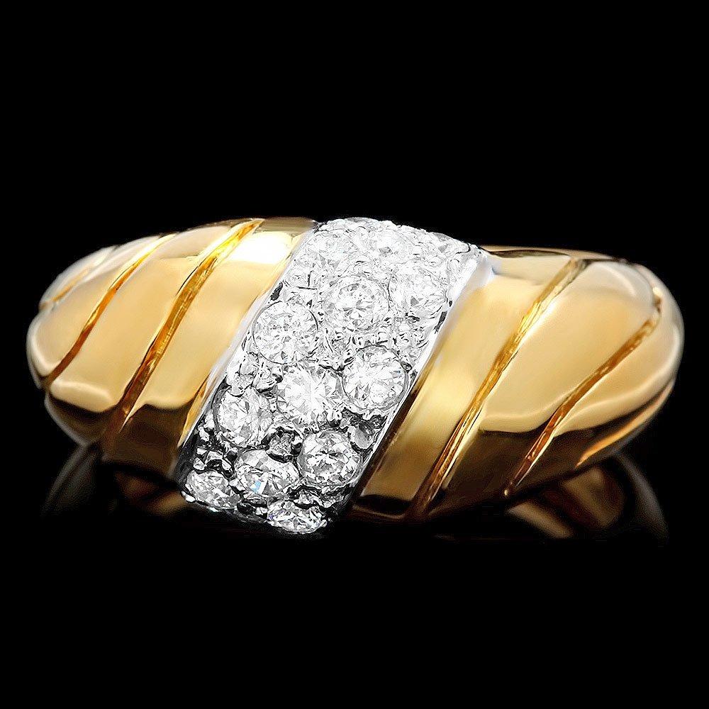 18k Yellow Gold 0.55ct Diamond Ring