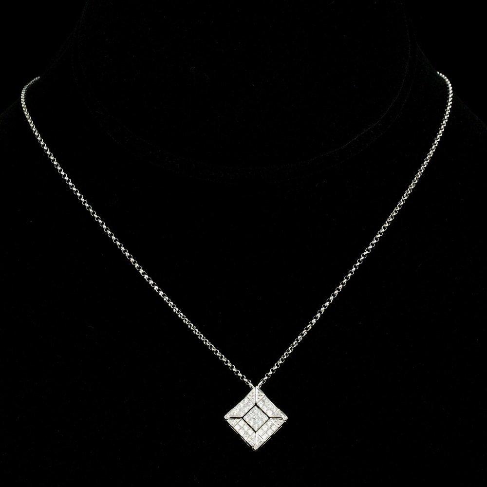 14k White Gold 1.00ct Diamond Pendant