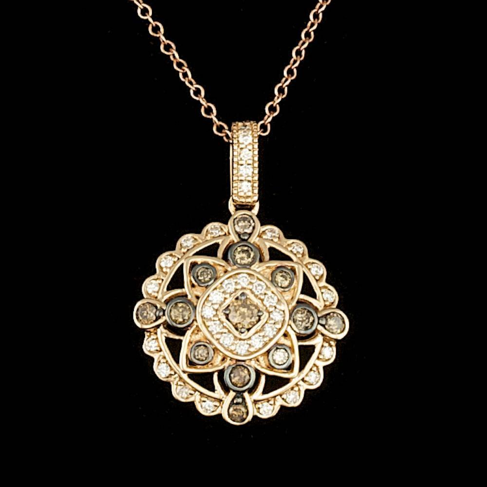14k Rose Gold .45ct Diamond Pendant