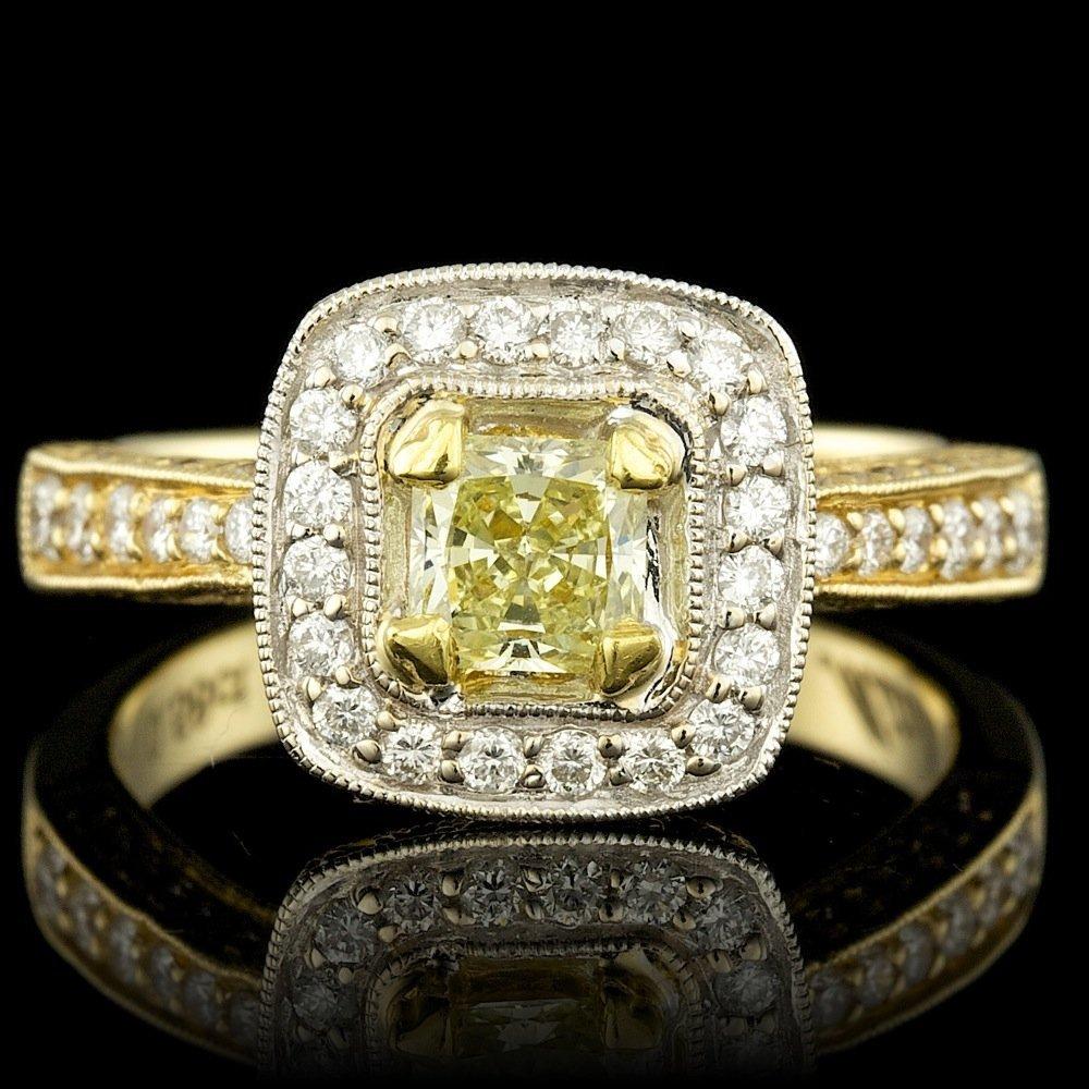 18k Multi-Tone Gold 1.38ct Diamond Ring