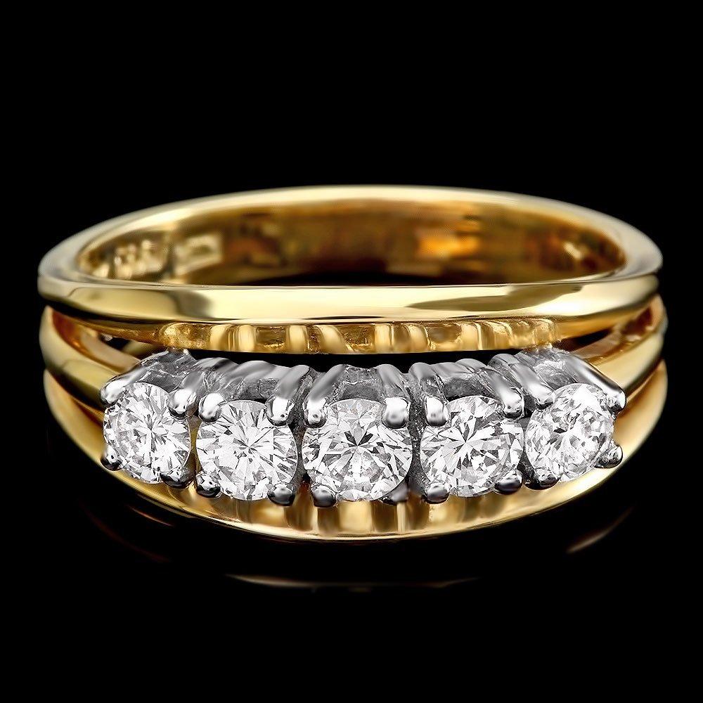 14k Multi-Tone Gold 0.80ct Diamond Ring