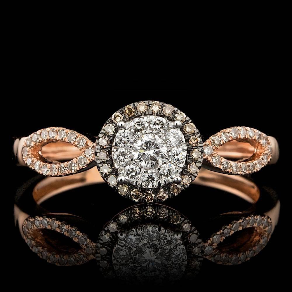 14k Rose Gold .35ct Diamond Ring
