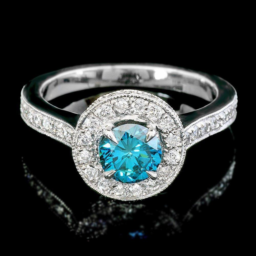 14k White Gold 1.55ct Diamond Ring