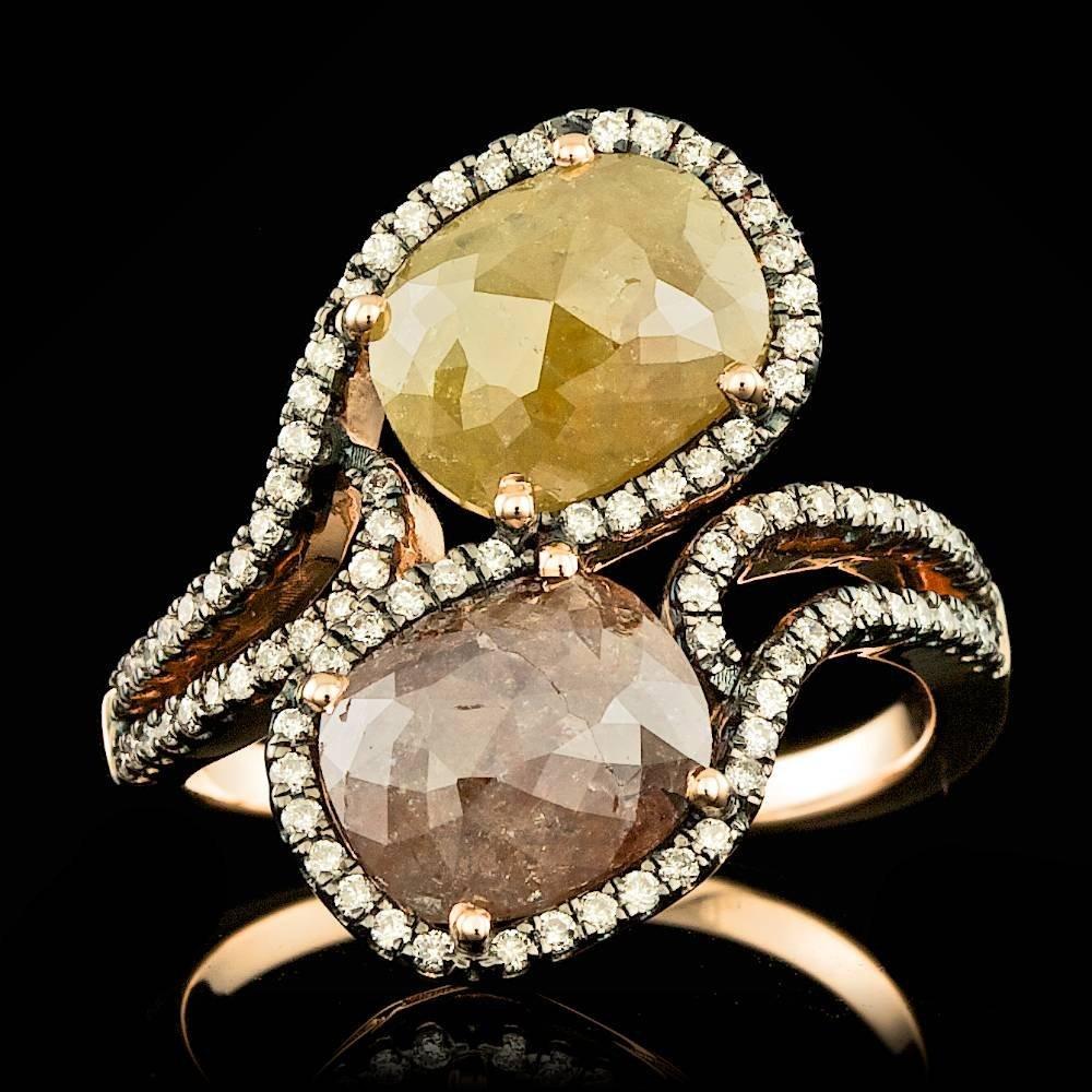 14k Rose Gold 4.2ct Diamond Ring