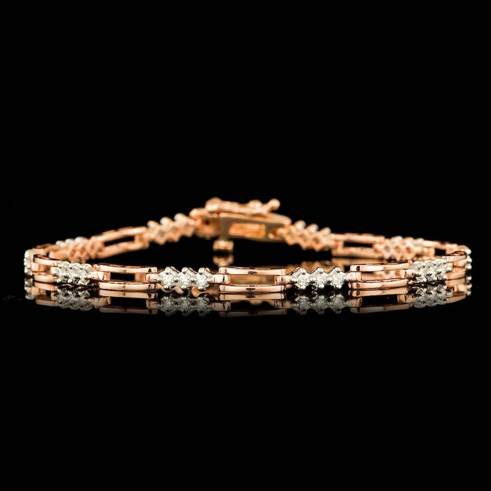 14k Rose Gold 0.50ct Diamond Bracelet