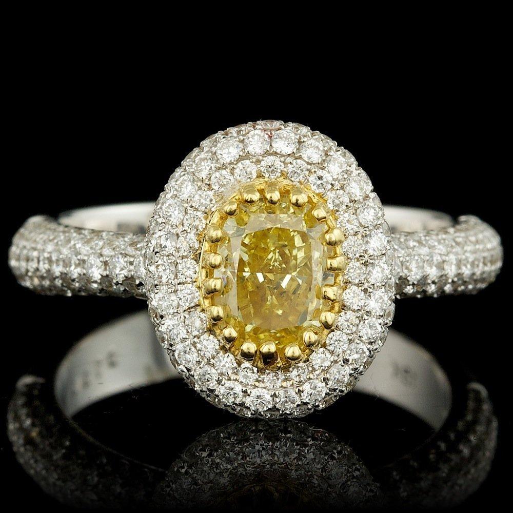 18k Multi-Tone Gold 2.29ct Diamond Ring