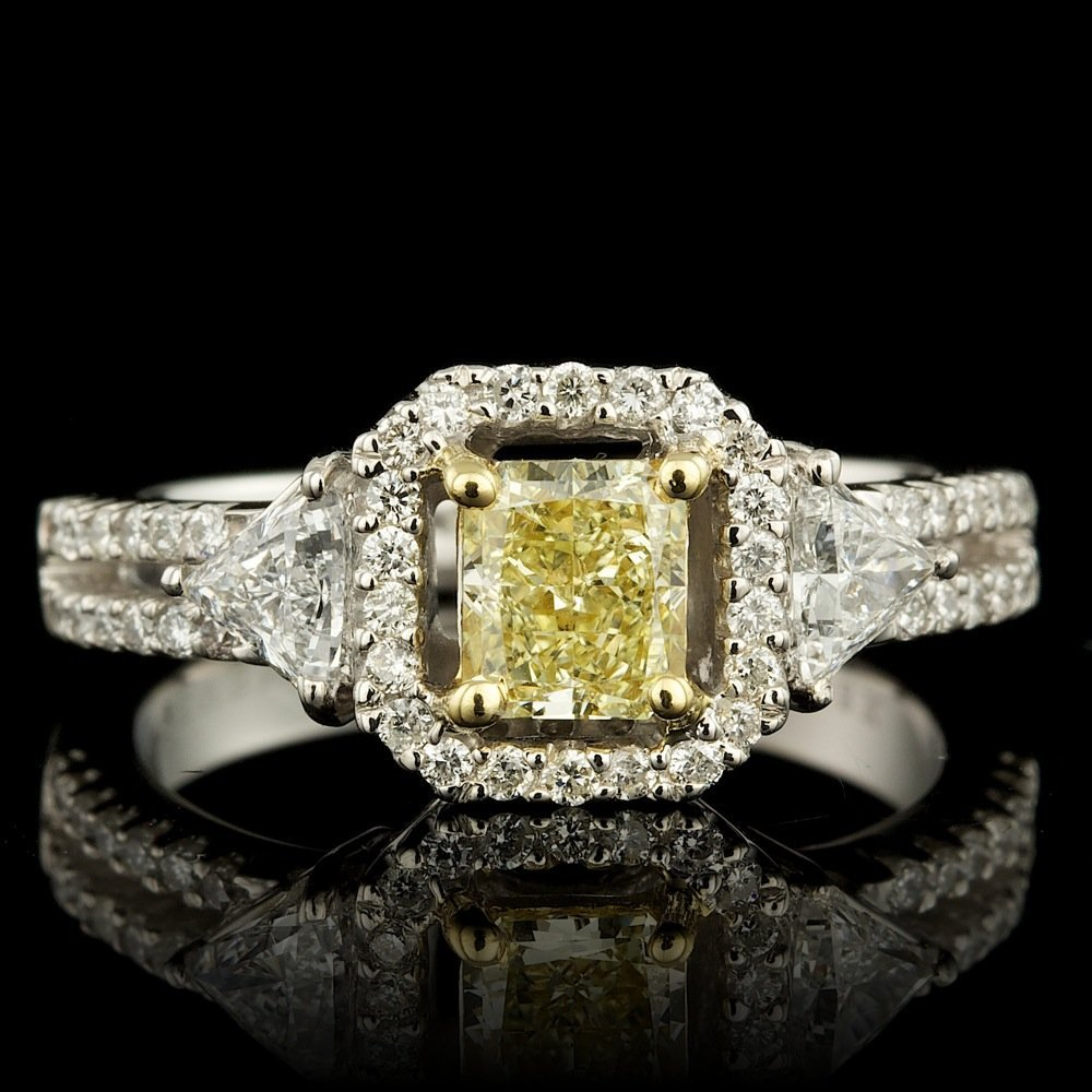 18k Multi-Tone Gold 1.45ct Diamond Ring