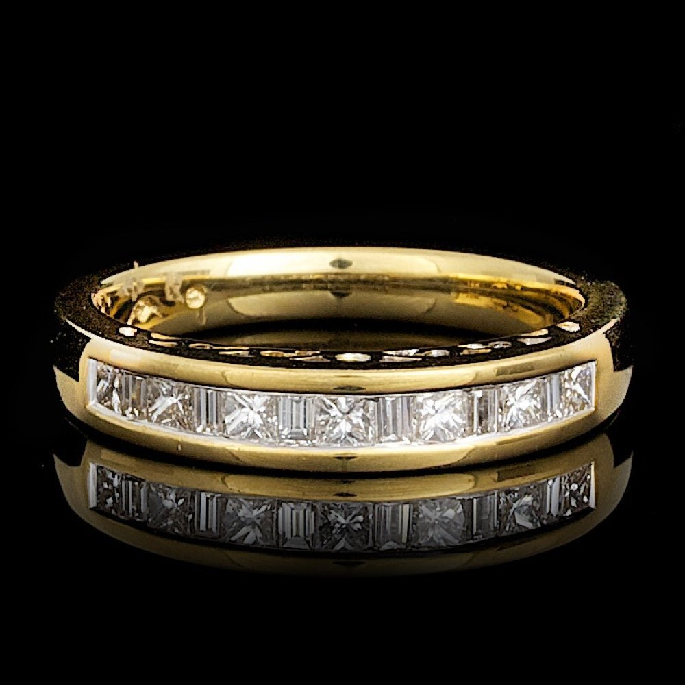 18k Yellow Gold .45ct Diamond Ring