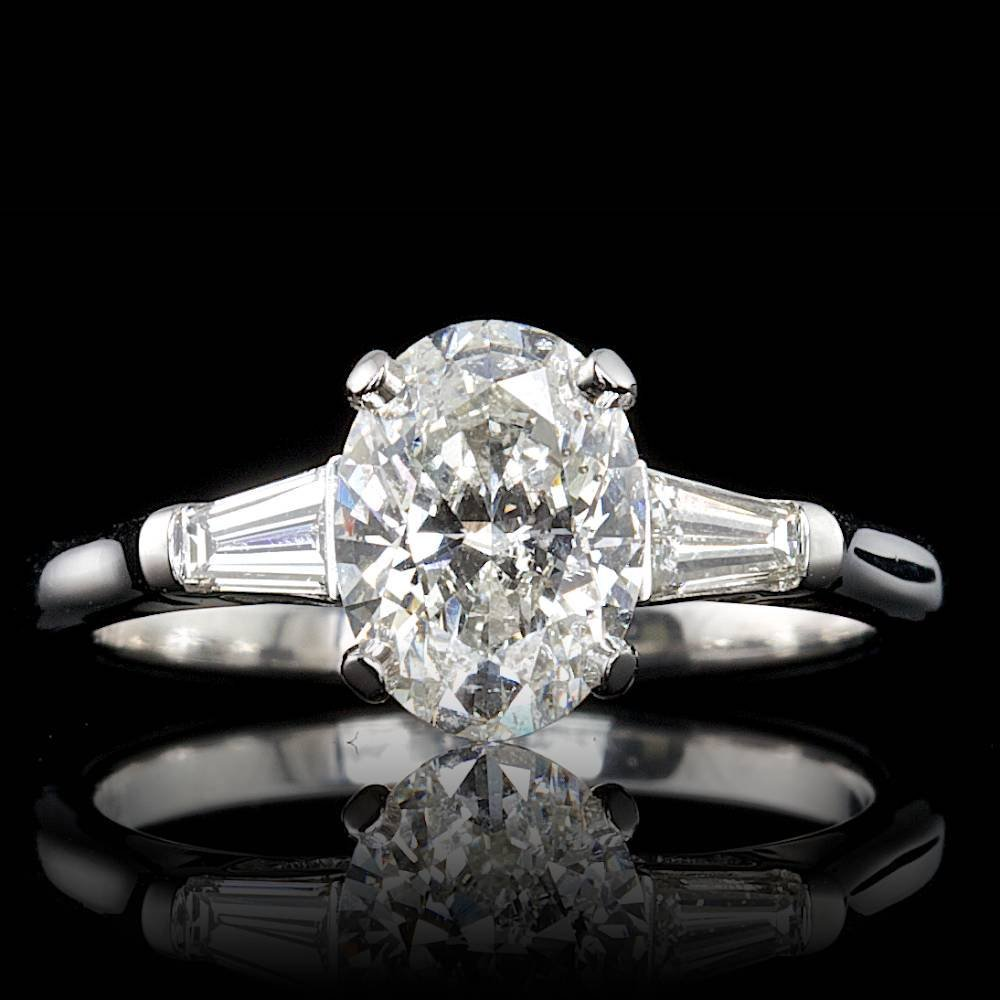 Platinum 1.46ct Diamond Ring