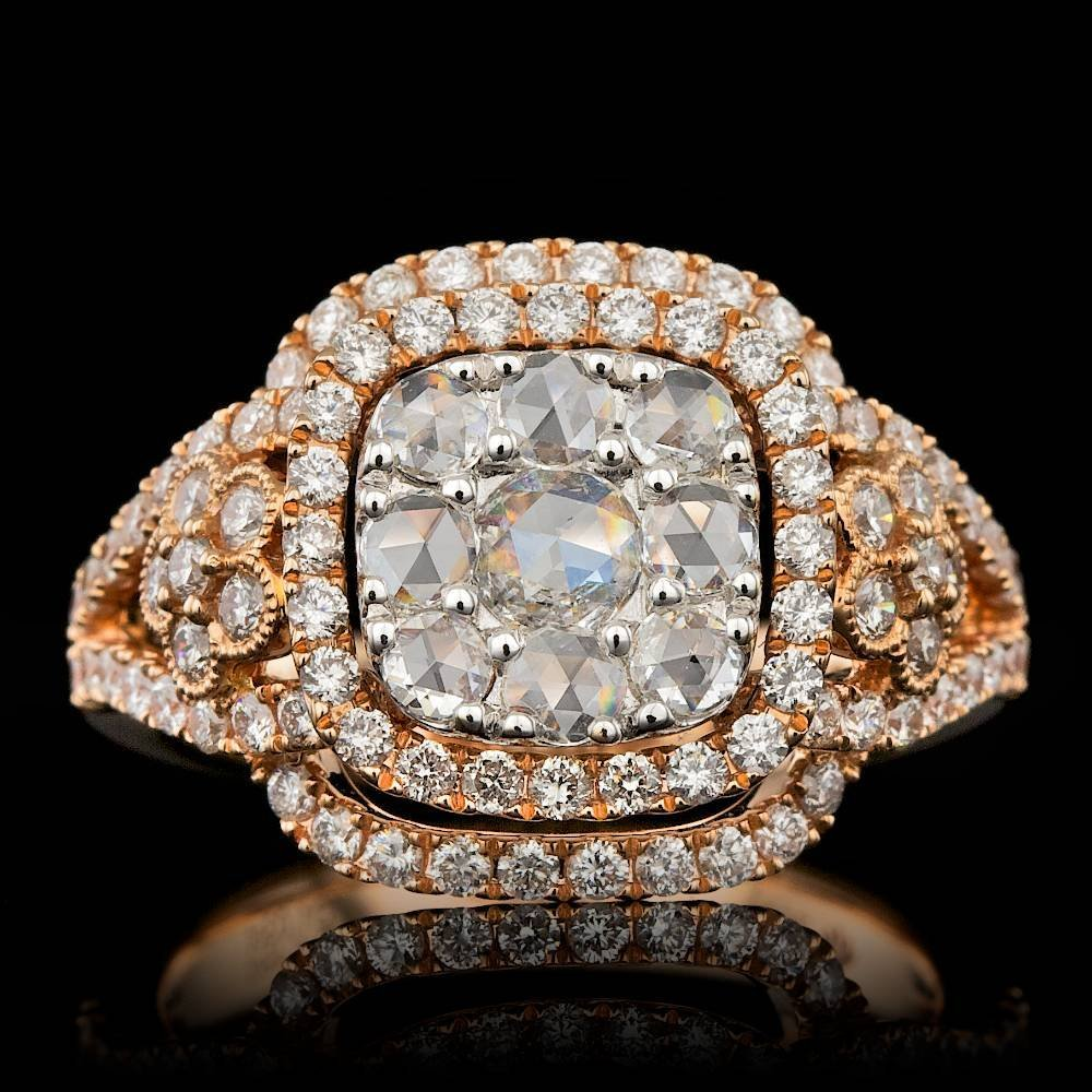 18k Rose Gold 1.5ct Diamond Ring