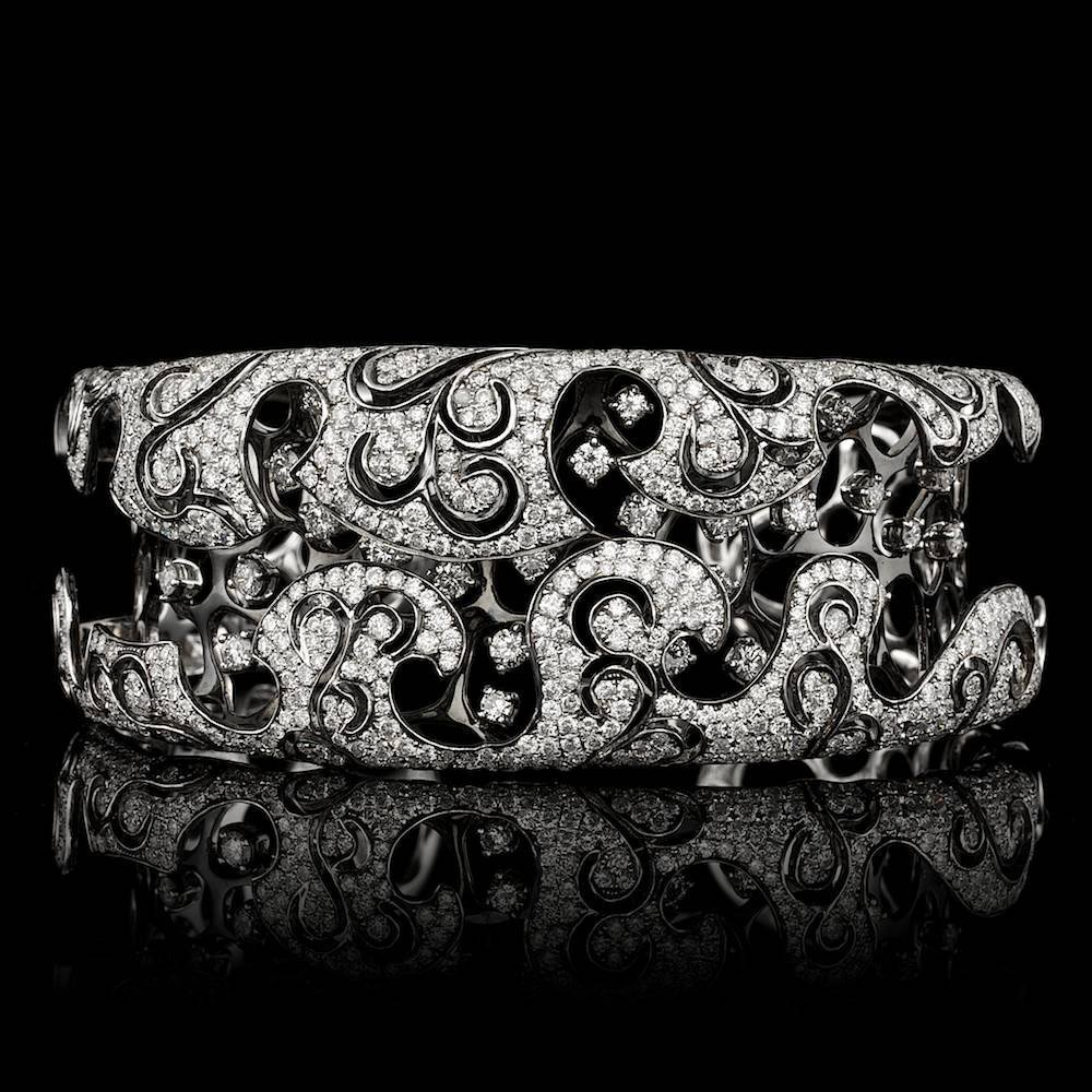18k White Gold 7.20ct Diamond Bracelet