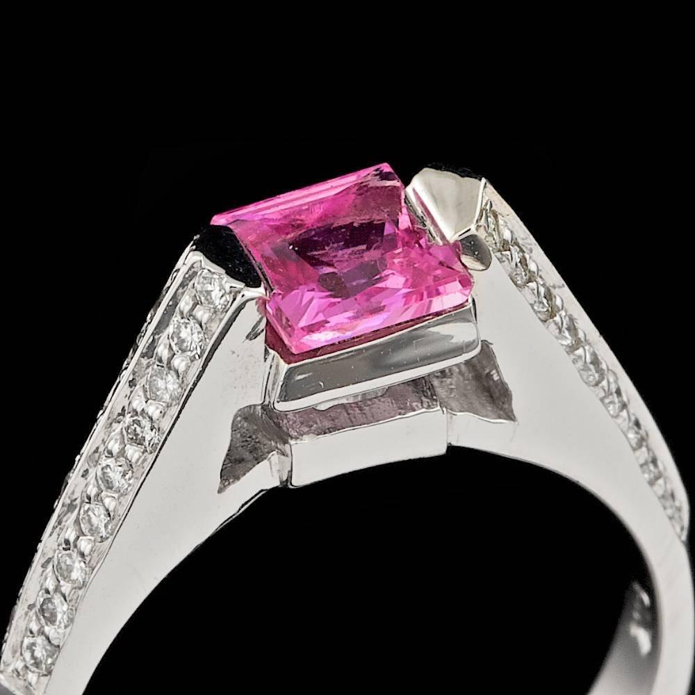 14k Gold 1.00ct Sapphire 0.30ct Diamond Ring