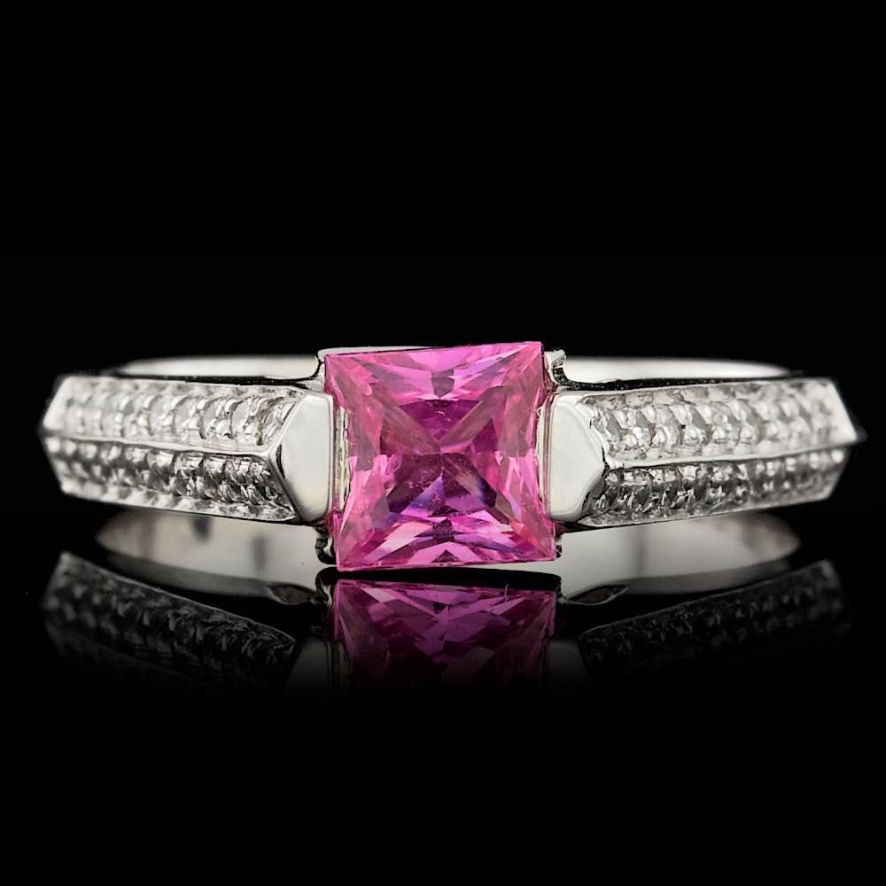 14k Gold 1.00ct Sapphire 0.30ct Diamond Ring - 2