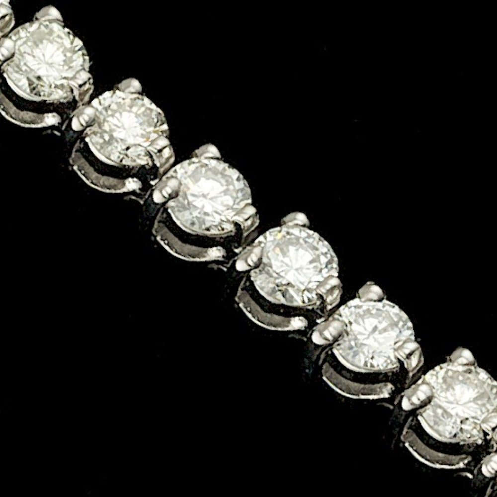 14k White Gold 5.00ct Diamond Bracelet