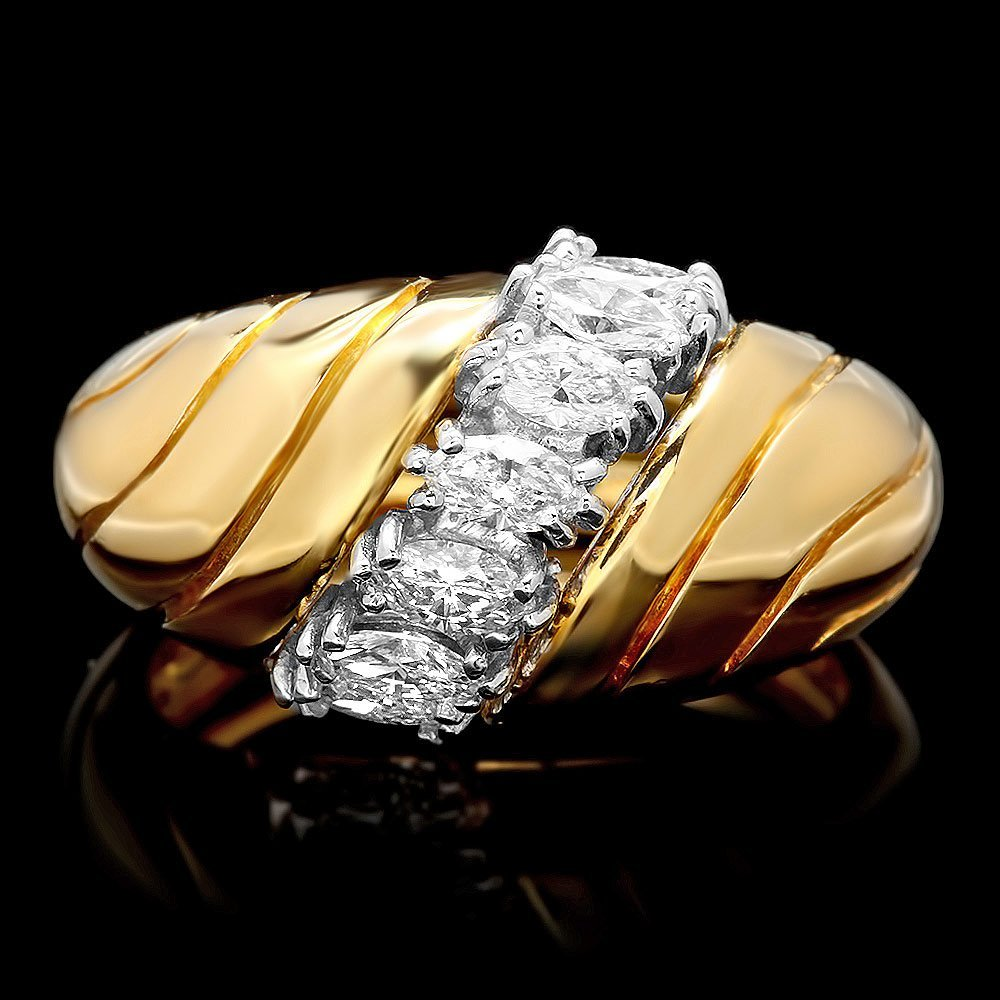 18k Multi-Tone Gold 0.60ct Diamond Ring