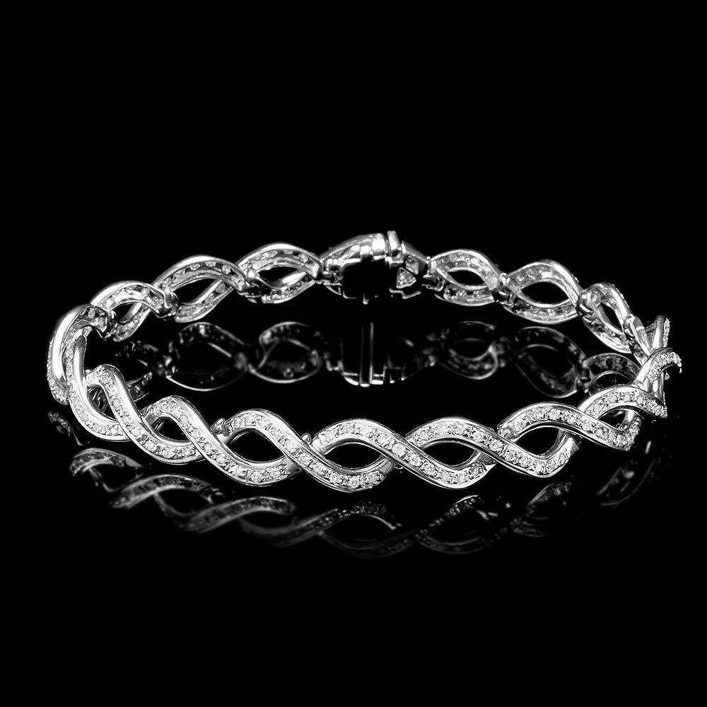 18k White Gold 1.80ct Diamond Bracelet