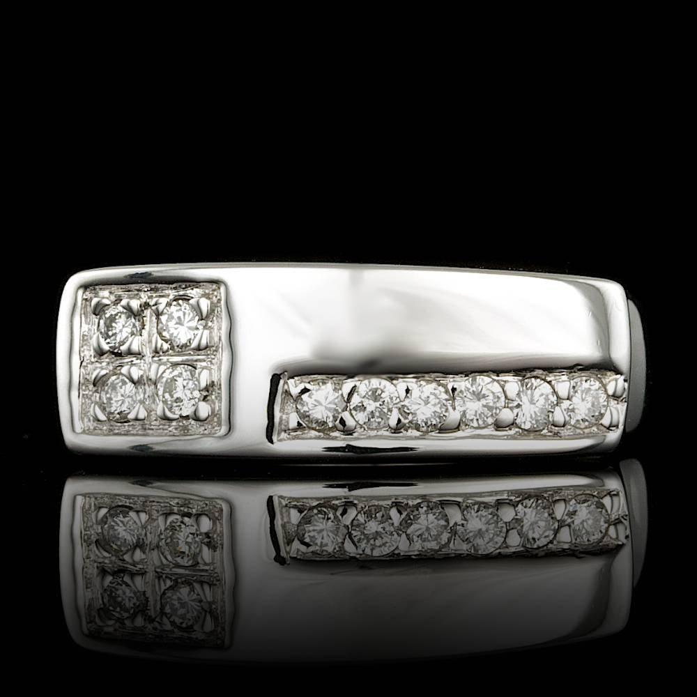14k White Gold 0.45ct Diamond Ring