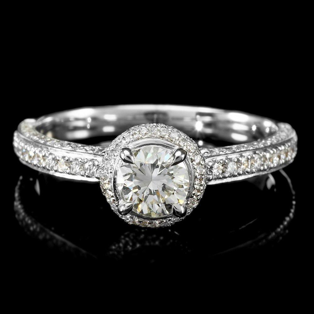18k White Gold 1.01ct Diamond Ring