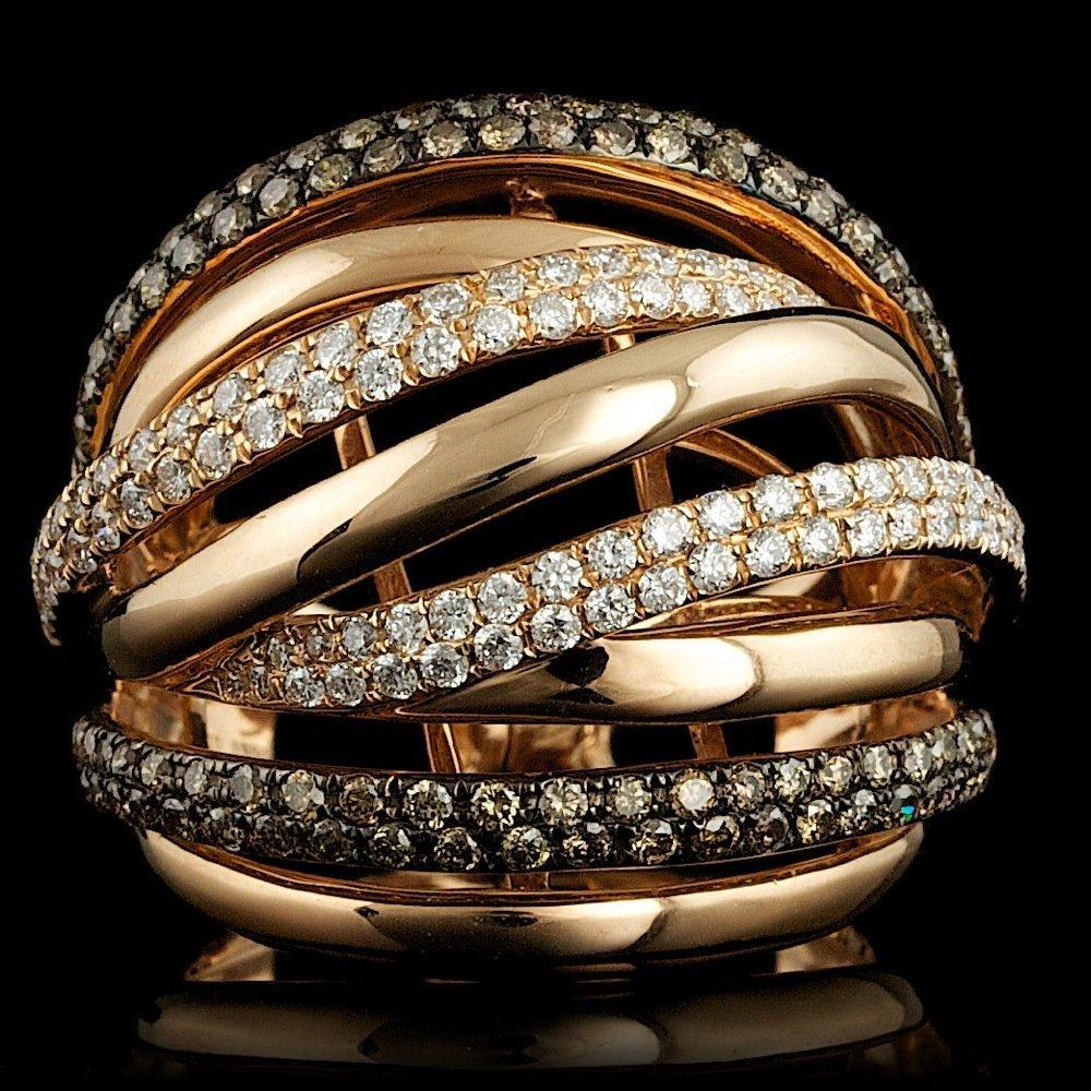 18k Rose Gold 1.6ct Diamond Ring