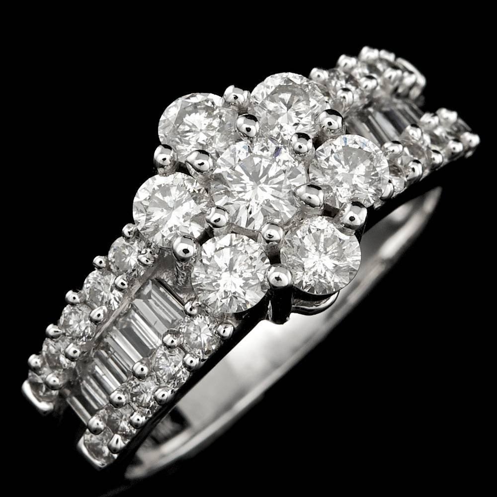 14k White Gold 1.7ct Diamond Ring