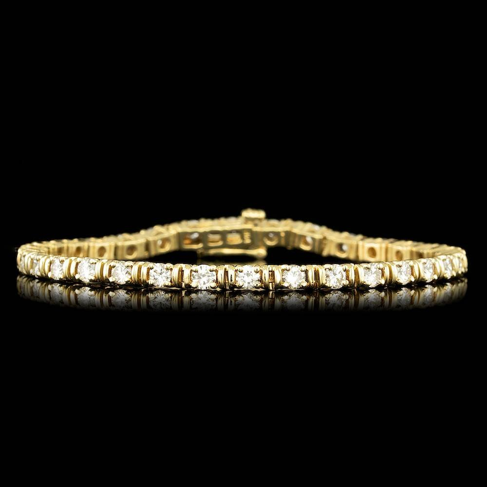 14k Yellow Gold 3.50ct Diamond Bracelet