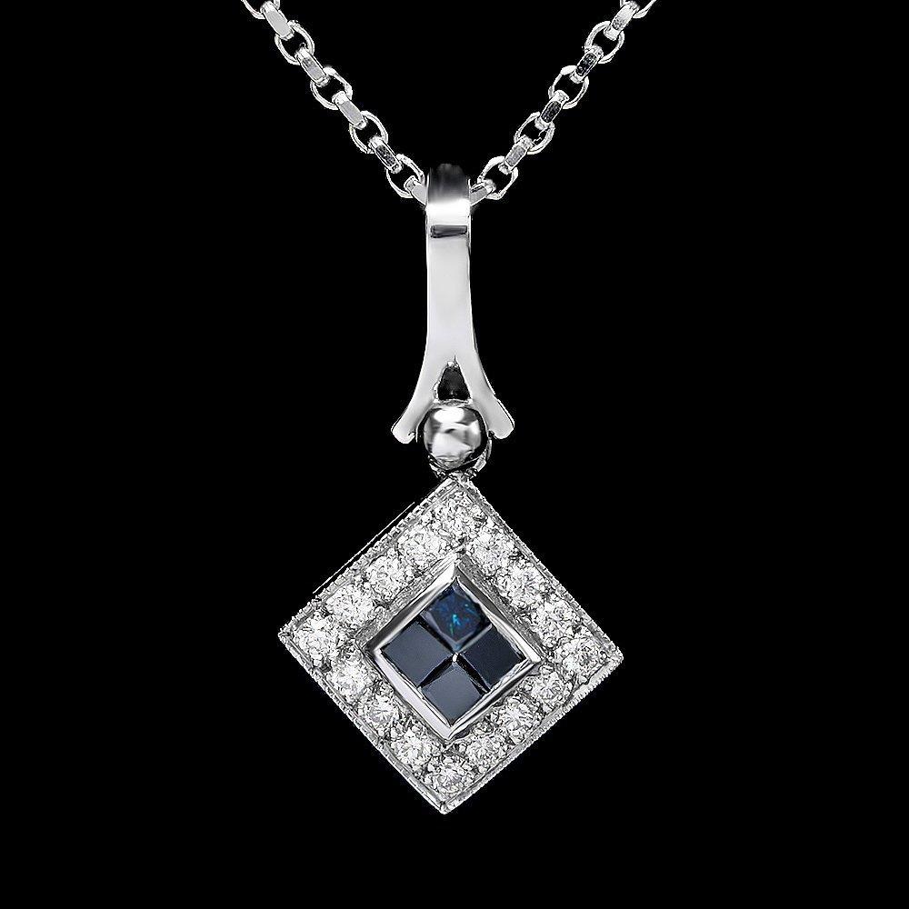 14k White Gold .85ct Diamond Pendant