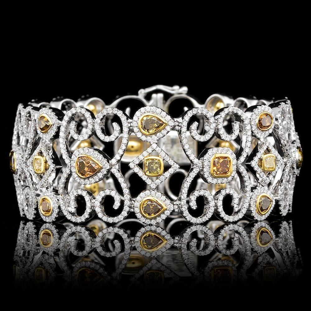 14k And 18k Gold 14.4ct Diamond  Bracelet