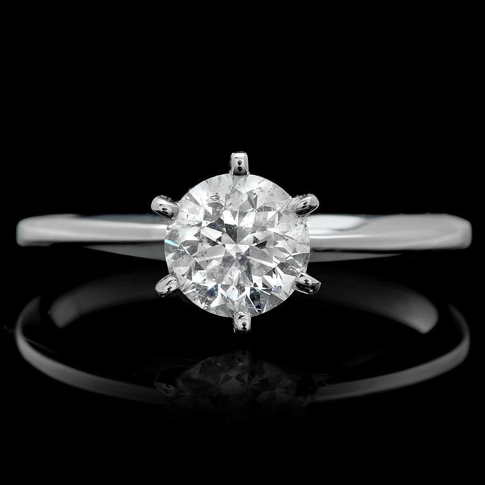 14k White Gold 1.00ct Diamond Ring