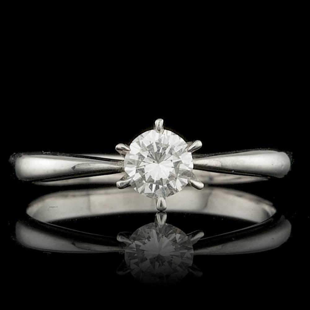 Platinum 0.35ct Diamond Ring