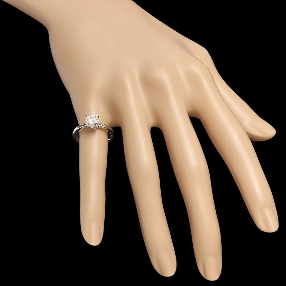 14k White Gold 1.10ct Diamond Ring - 3