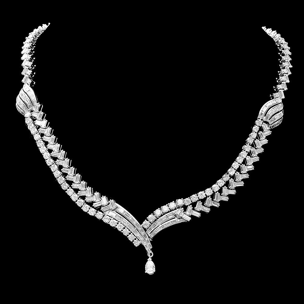 Platinum 25.53ct Diamond Necklace