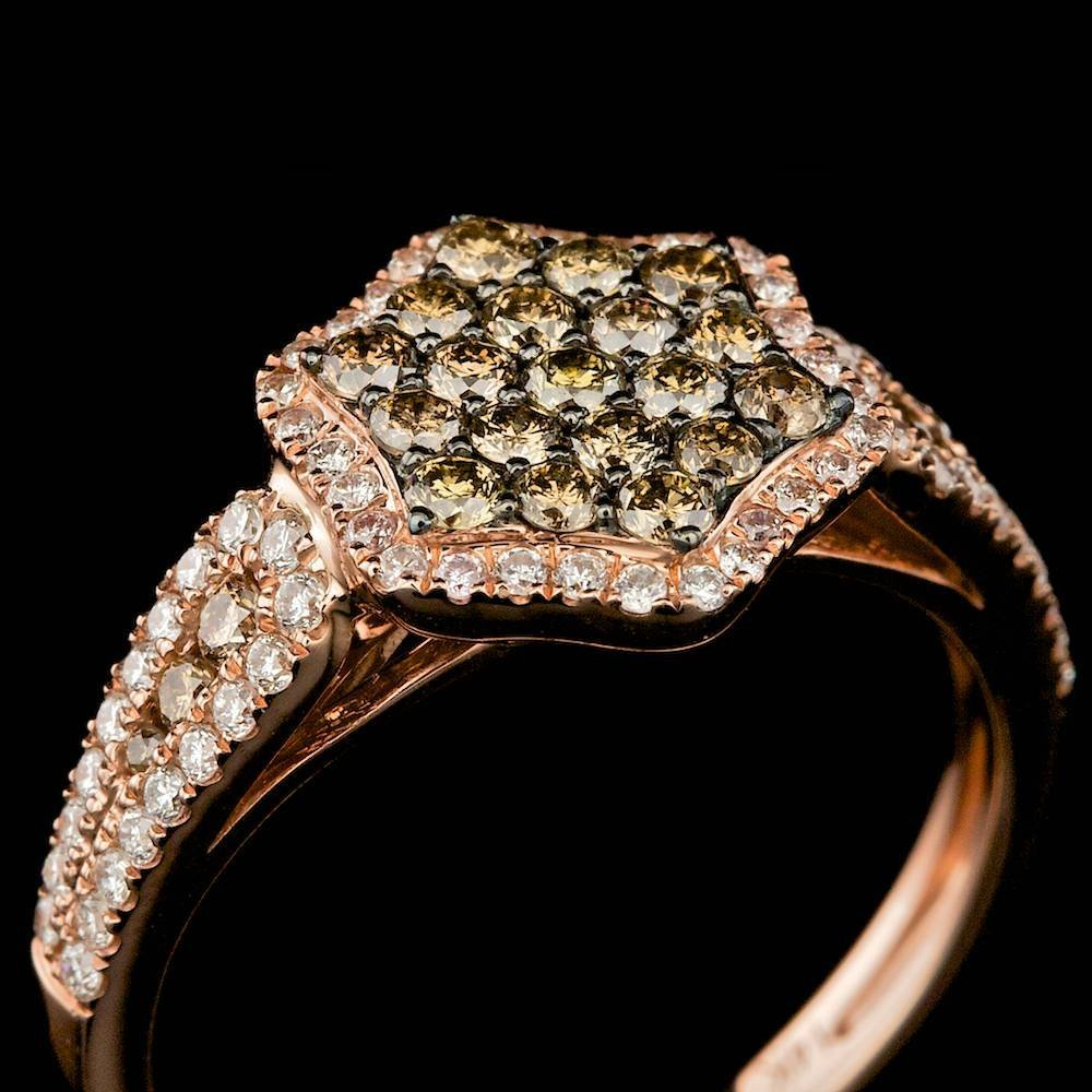 14k Rose Gold .85ct Diamond Ring