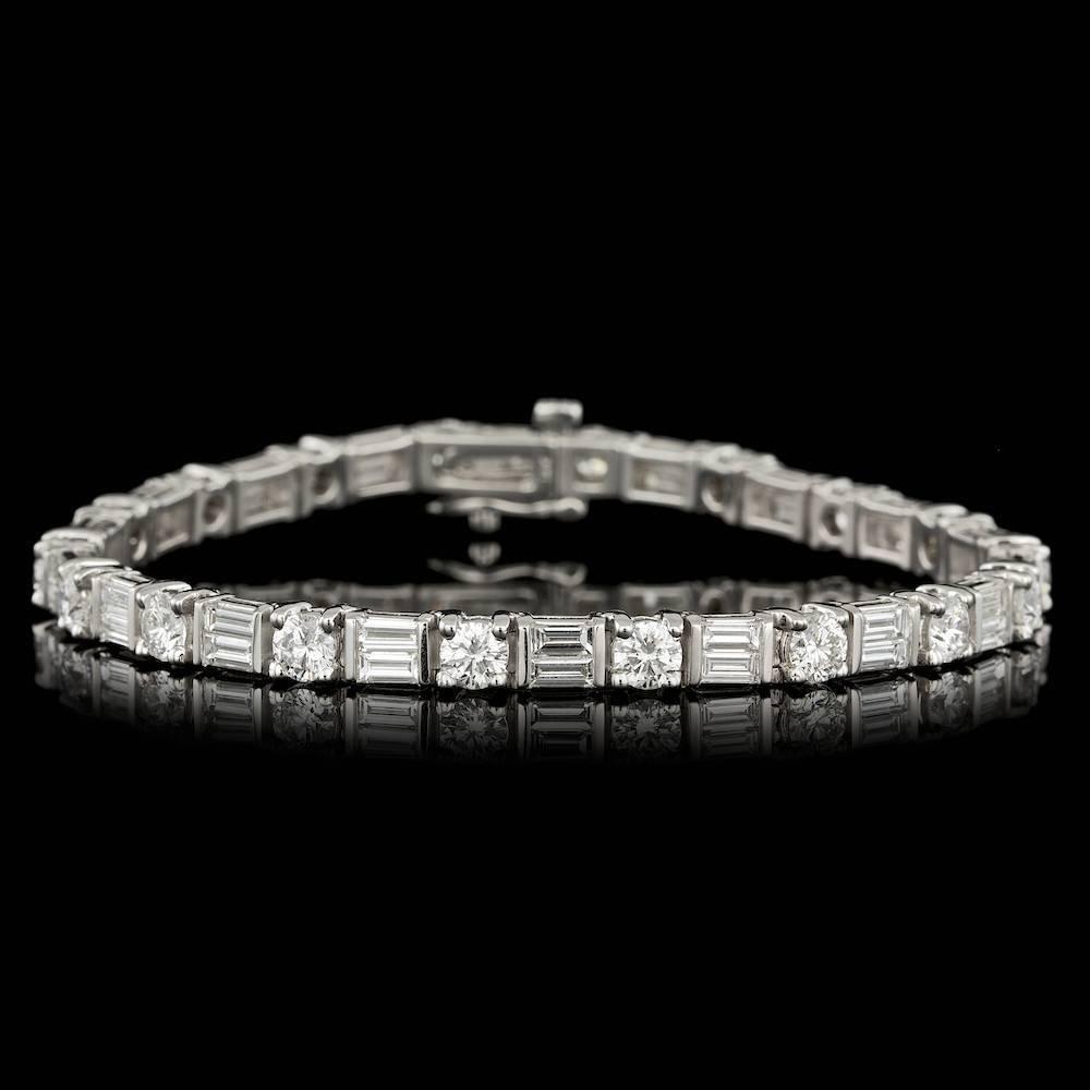 14k White Gold 7.95ct Diamond Bracelet