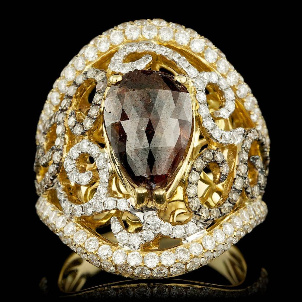 18k Yellow Gold 5.8ct Diamond Ring