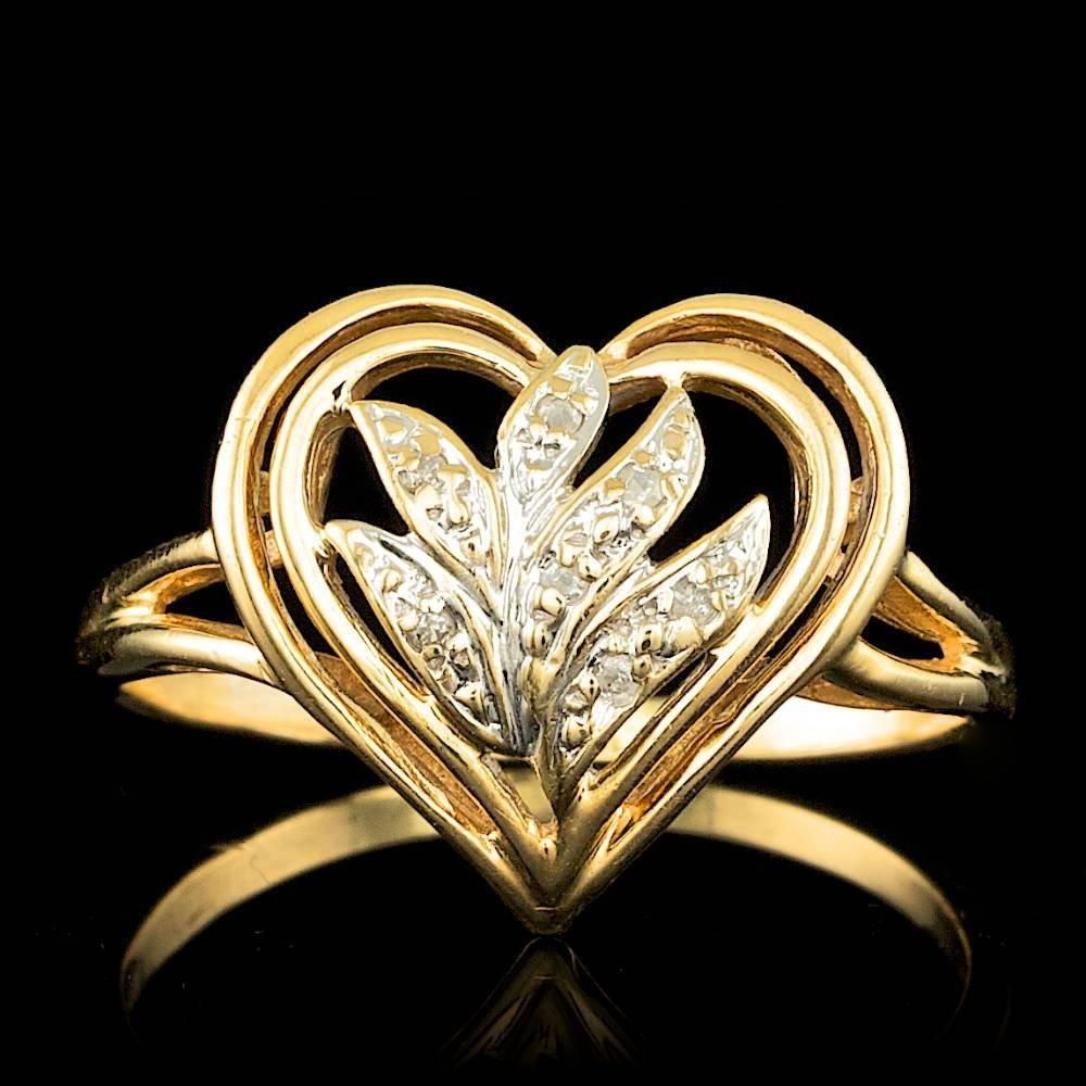 14k Yellow Gold 0.07ct Diamond Ring