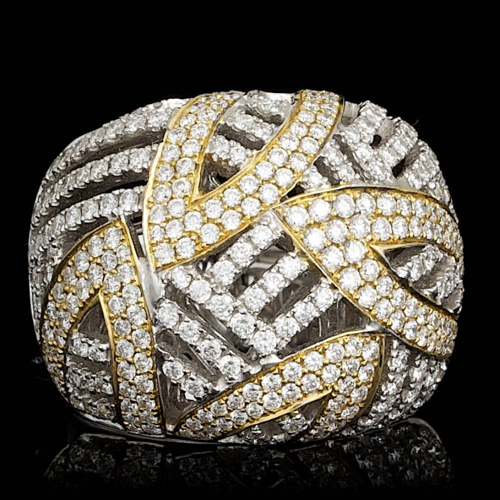 18k Multi-Tone Gold 1.71ct Diamond Ring