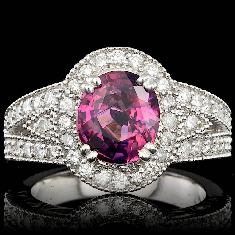 14k Gold 3.00ct Sapphire 0.80ct Diamond Ring
