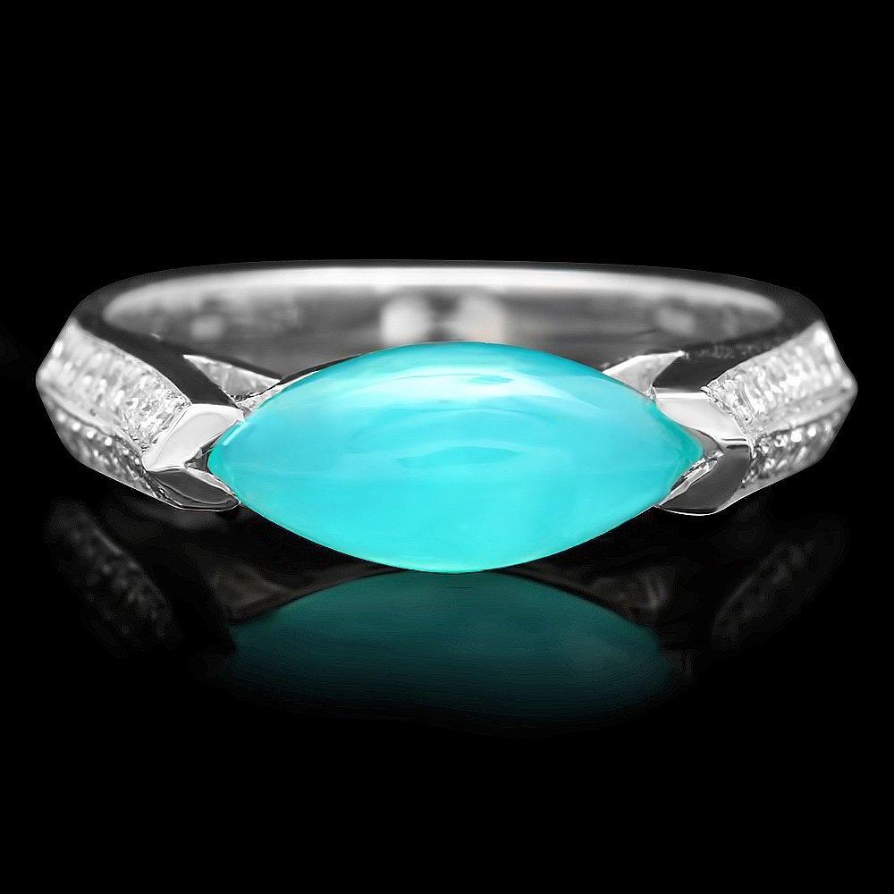 18k White Gold 1.60ct Opal 0.50ct Diamond Ring