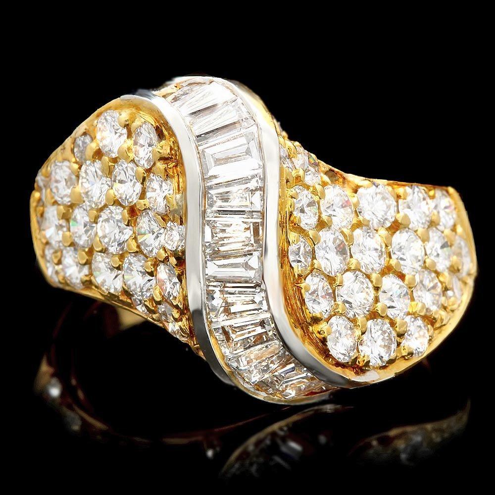 18k Multi-Tone Gold 2.7ct Diamond Ring