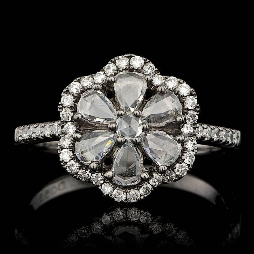 18k White Gold .85ct Diamond Ring