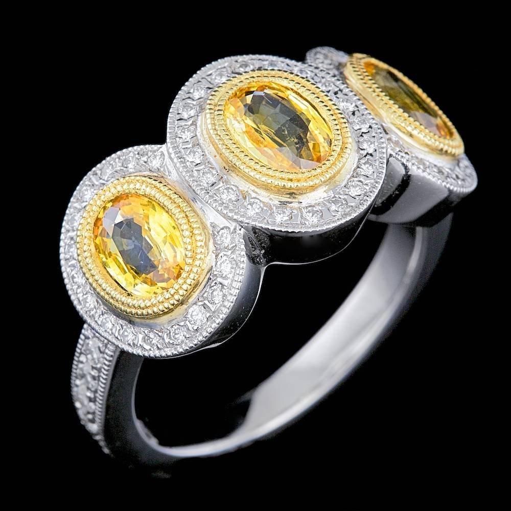 18k Gold 2.00ct Sapphire 0.60ct Diamond Ring