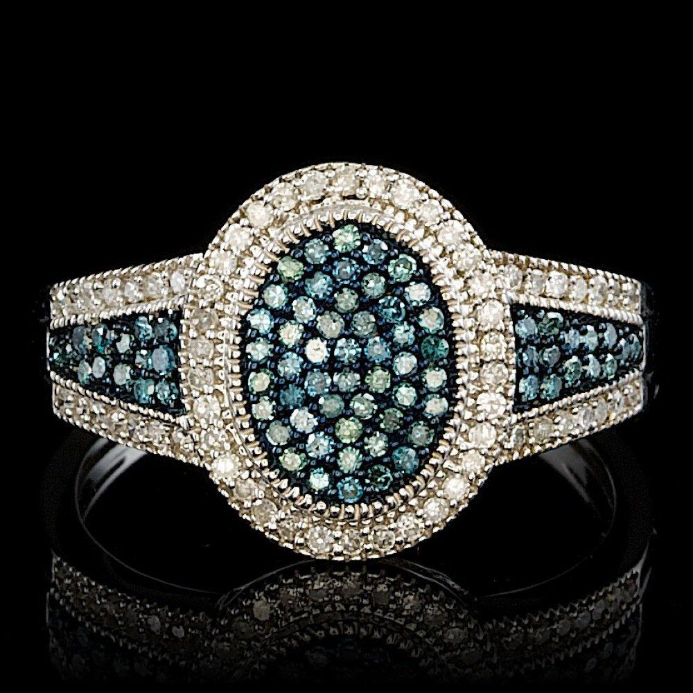 14k White Gold .35ct Diamond Ring