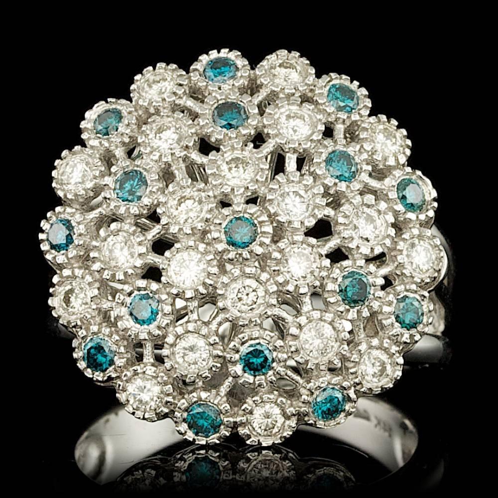 14k White Gold .81ct Diamond Ring