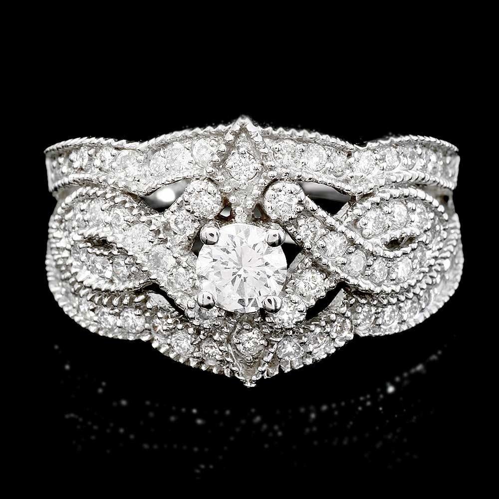 Antique Style 14k Gold 1.57ct G/Si Diamond Ring