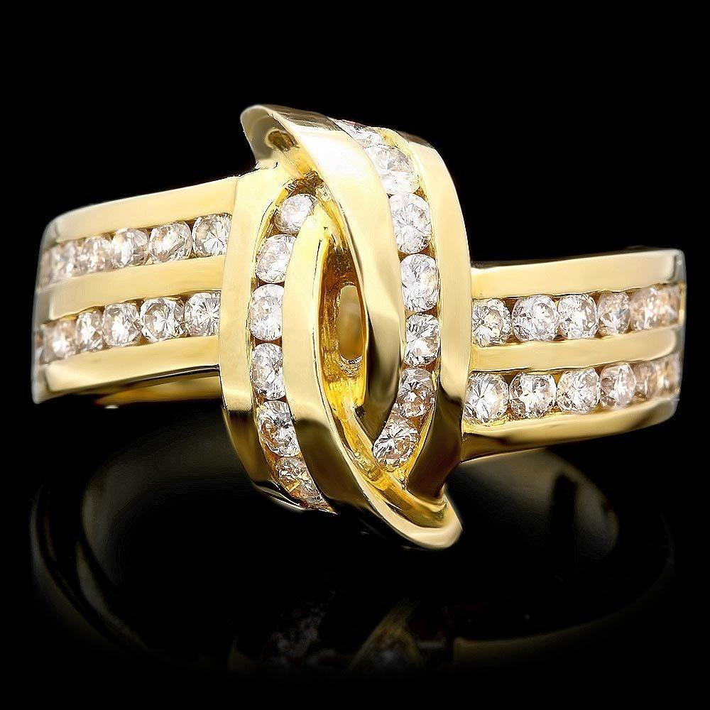 14k Yellow Gold 1.25ct Diamond Ring