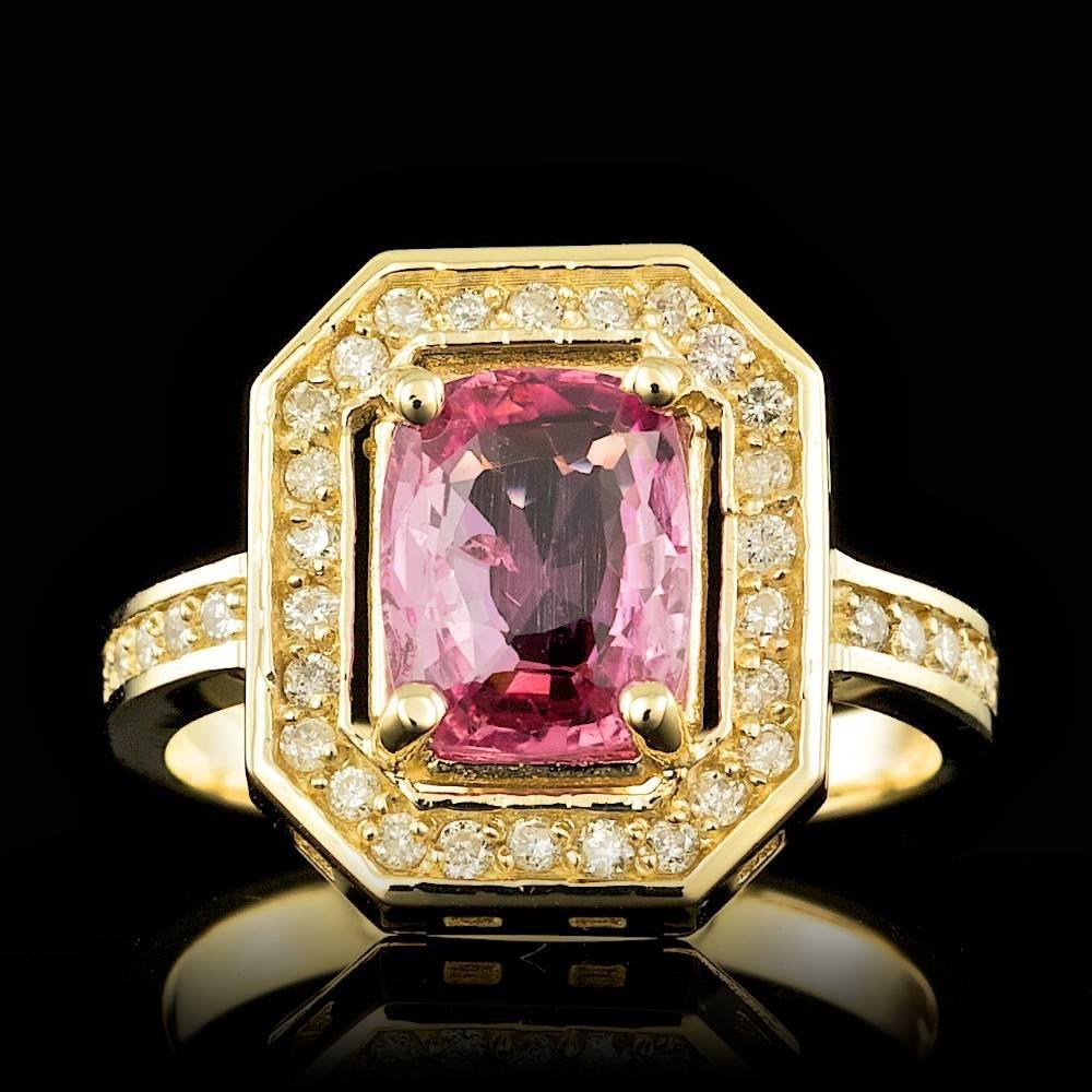 14k Gold 2.00ct Sapphire 0.40ct Diamond Ring