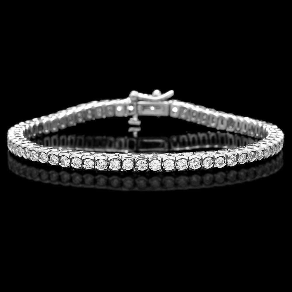 14k White Gold 2.70ct Diamond Bracelet