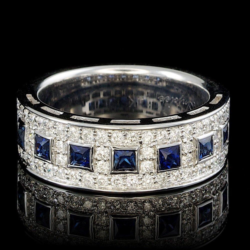 14k Gold 0.50ct Sapphire 0.60ct Diamond Ring