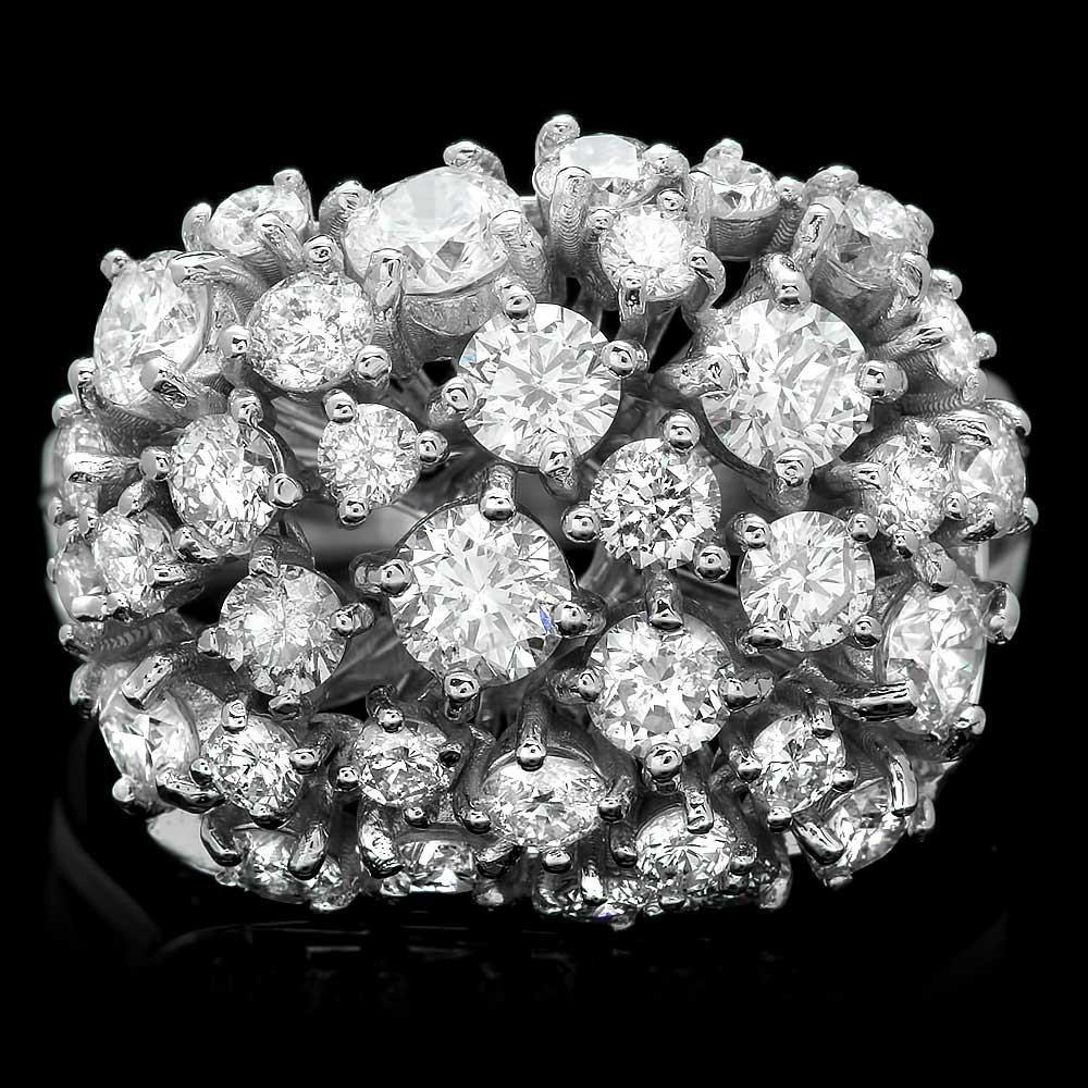 14k White Gold 2.60ct Diamond Ring